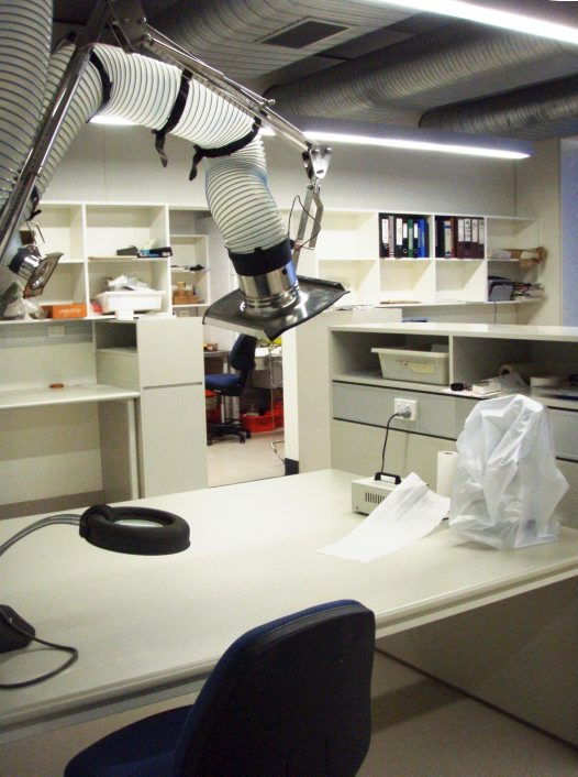 Ornithology dry laboratory space