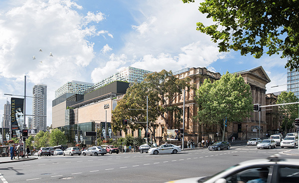 Exterior of the proposed Australian Museum transformation