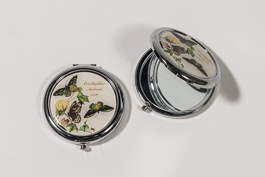 Scott Sisters 'Tailed Emperor Butterfly' Compact Purse Mirror