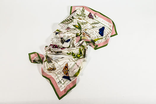 Limited Edition Scott Sisters 'Notebook' Silk Scarf