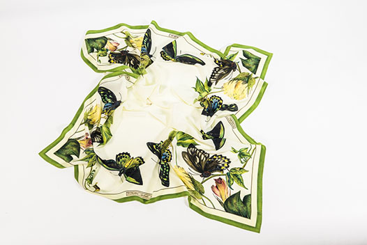 Butterfly Silk Scarf inspired by the Scott Sisters illustrations