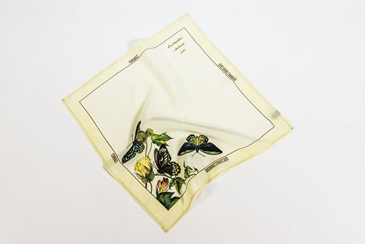 Butterfly Silk Pocket Square inspired by the Scott Sisters illustrations