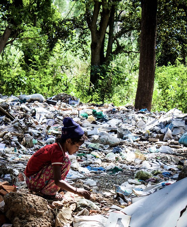 Scraping a living in a world of trash.