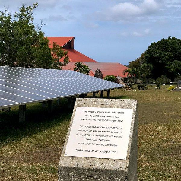 Solar panels, Port Vila, Vanuatu, November 2019