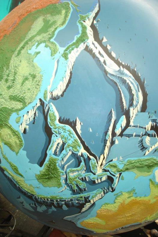 Deep Oceans globe progress