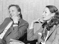 Sir David Attenborough with Susan Bridie, the executive officer of TAMS