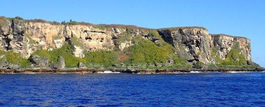 The cliffs of Walpole Island, New Caledonia