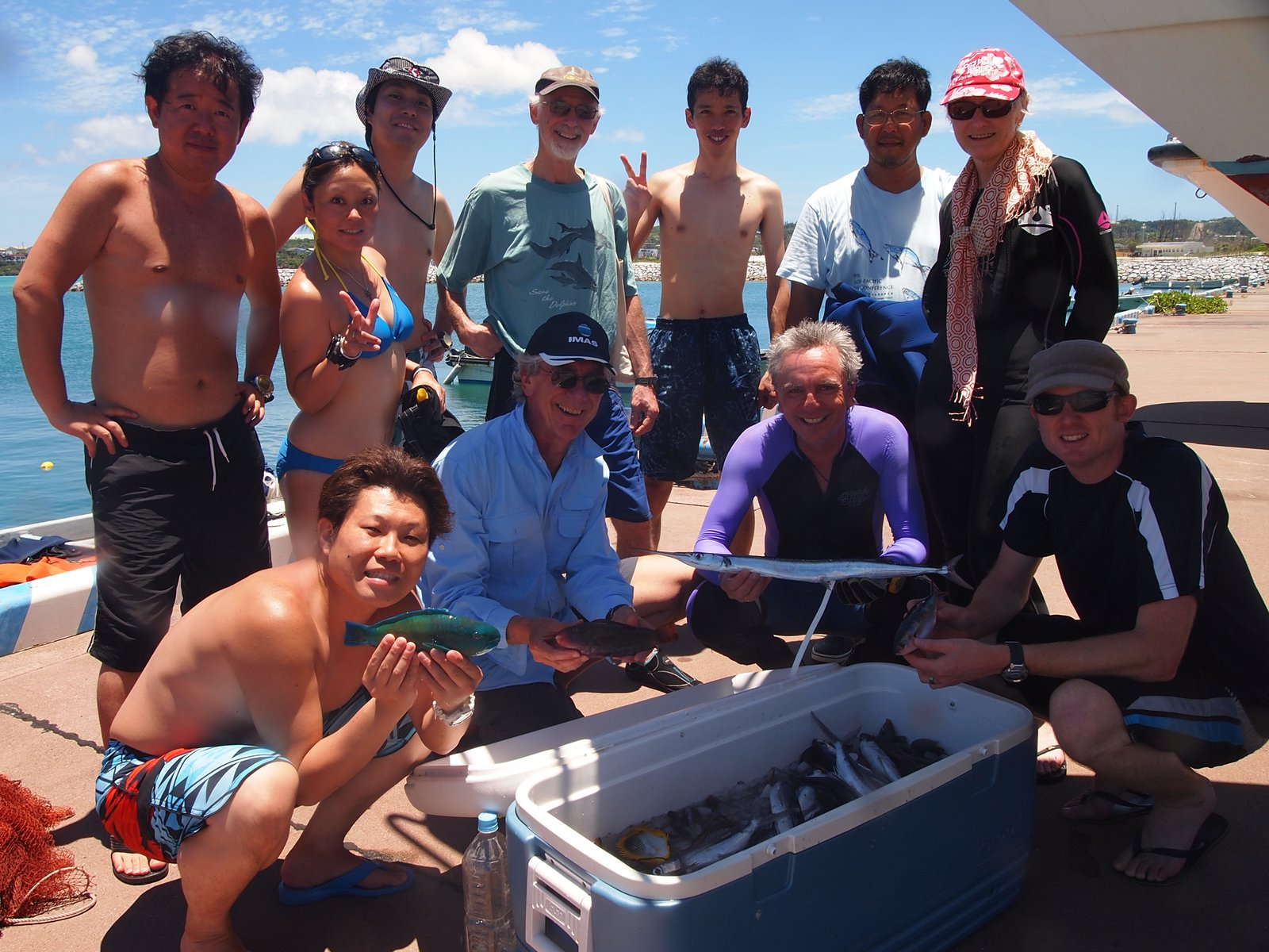 Jeff Leis and colleagues pictured on a collecting trip, 2013 Yoron Island, Japan.