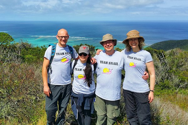 Members of 'Team Snail' on Lord Howe Island in 2019