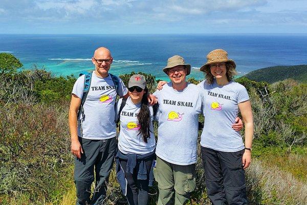 Members of 'Team Snail' on Lord Howe Island in 2019