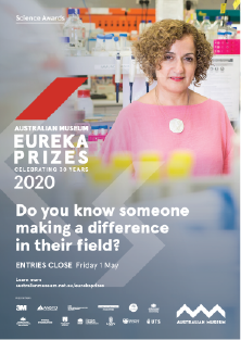 Do you know someone making a difference? - A3 poster Eureka Prizes