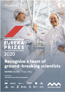 Recognise a team of ground-breaking scientists - A3 poster Eureka Prizes