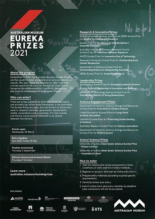 Information sheet - 2021 AM Eureka Prizes