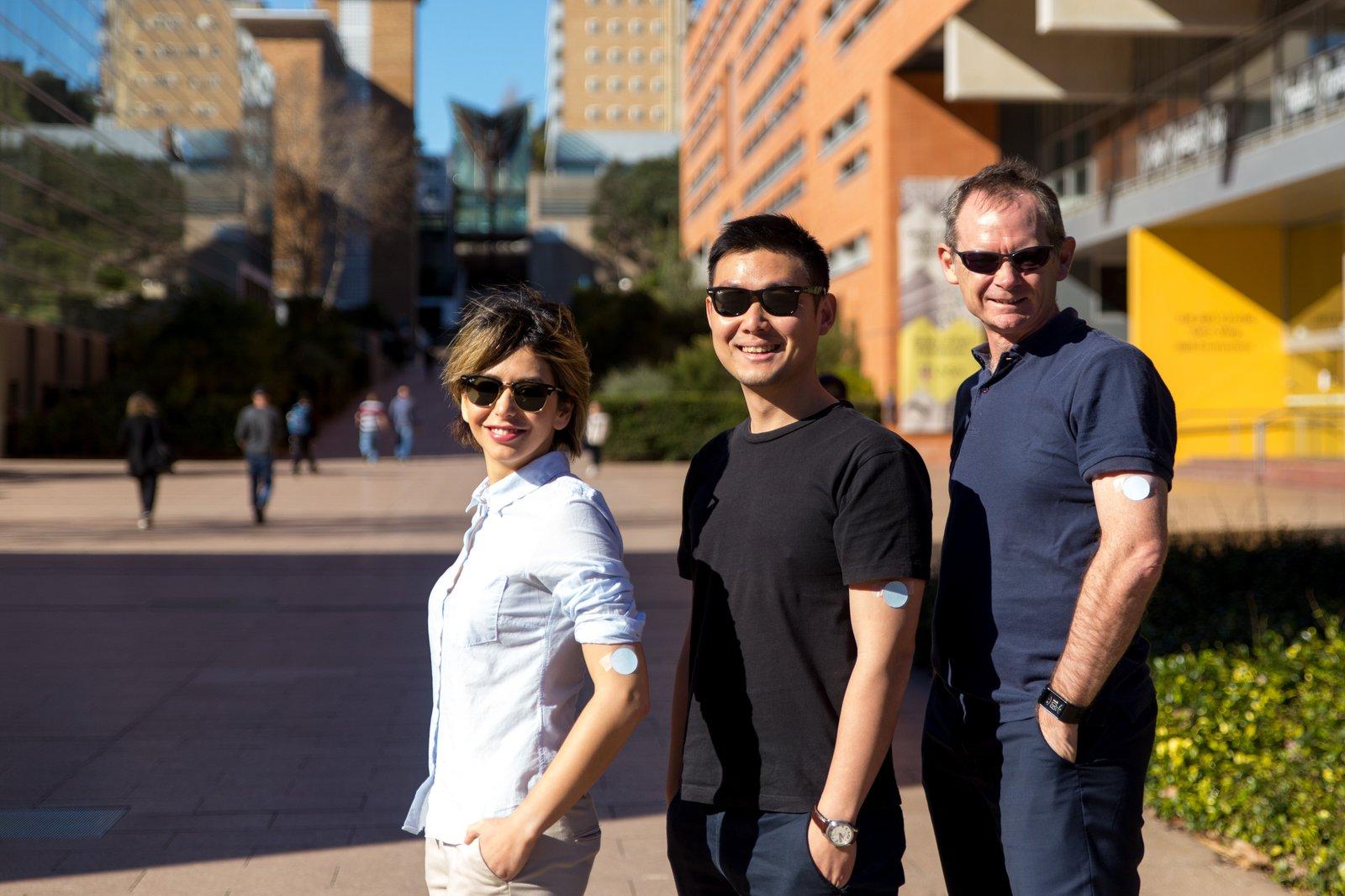 Professor Justin Gooding, Dr Parisa Khiabani and Dr Alexander Soeriyadi