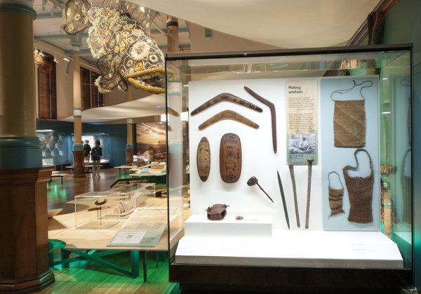 Exhibition display cases