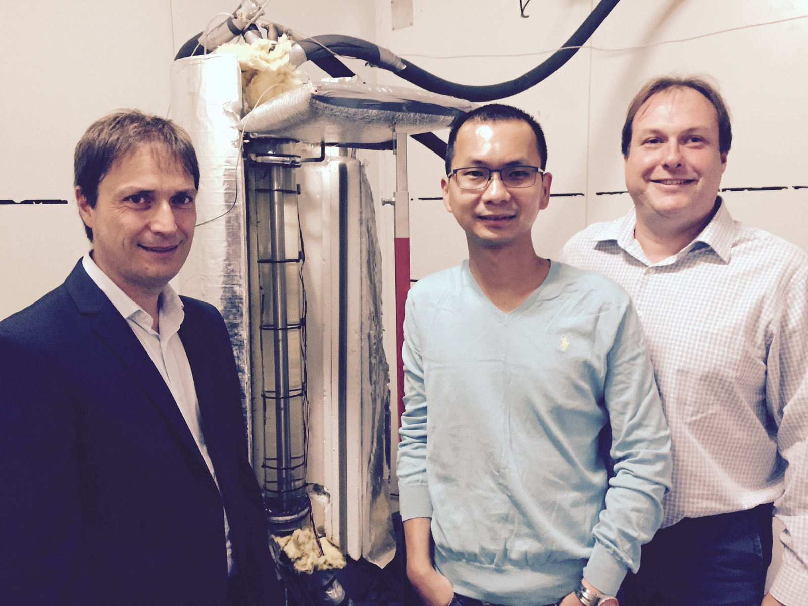 Associate Professor Frank Bruno, Dr Martin Belusko and Dr Steven Tay