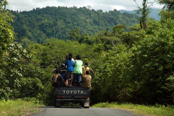Toyota Landcruiser in Bougainville