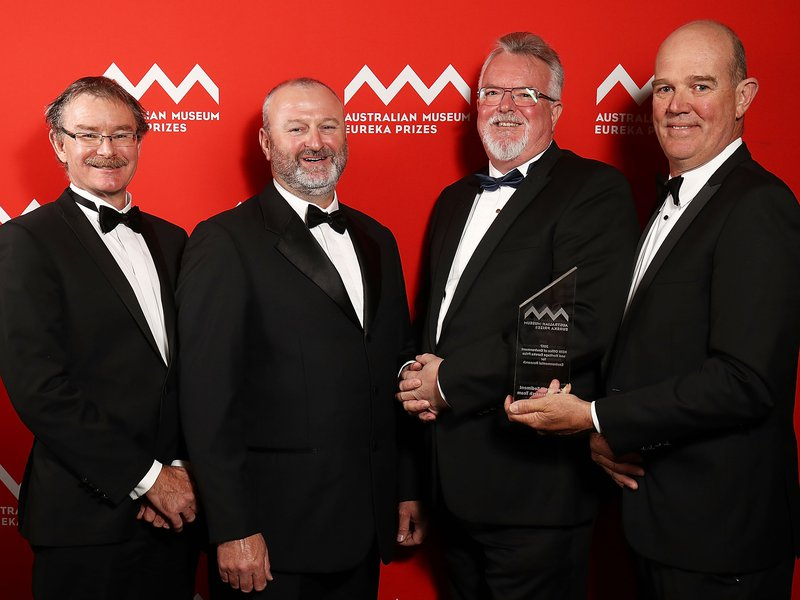 Associate Professor Andrew Brooks, John Spencer, Professor Jon Olley and Graeme Curwen of the Catchment Sediment Budget Research Team, Griffith University