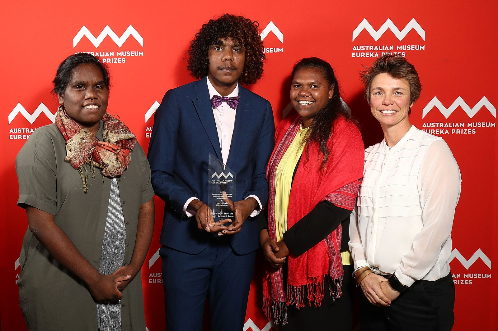 Ngukurr Wi Stadi Bla Kantri team, winner of the 2017 Department of Industry, Innovation and Science Eureka Prize for Innovation in Citizen Science