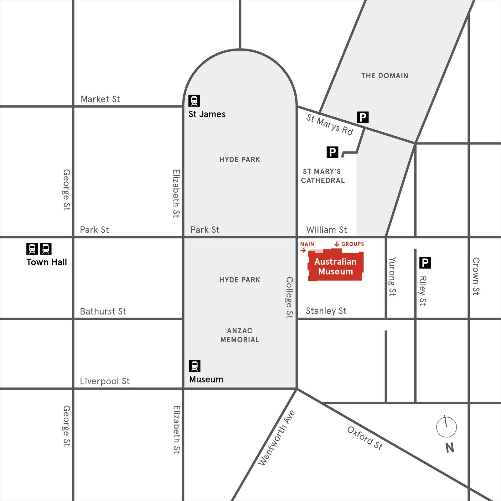Australian Museum Location map