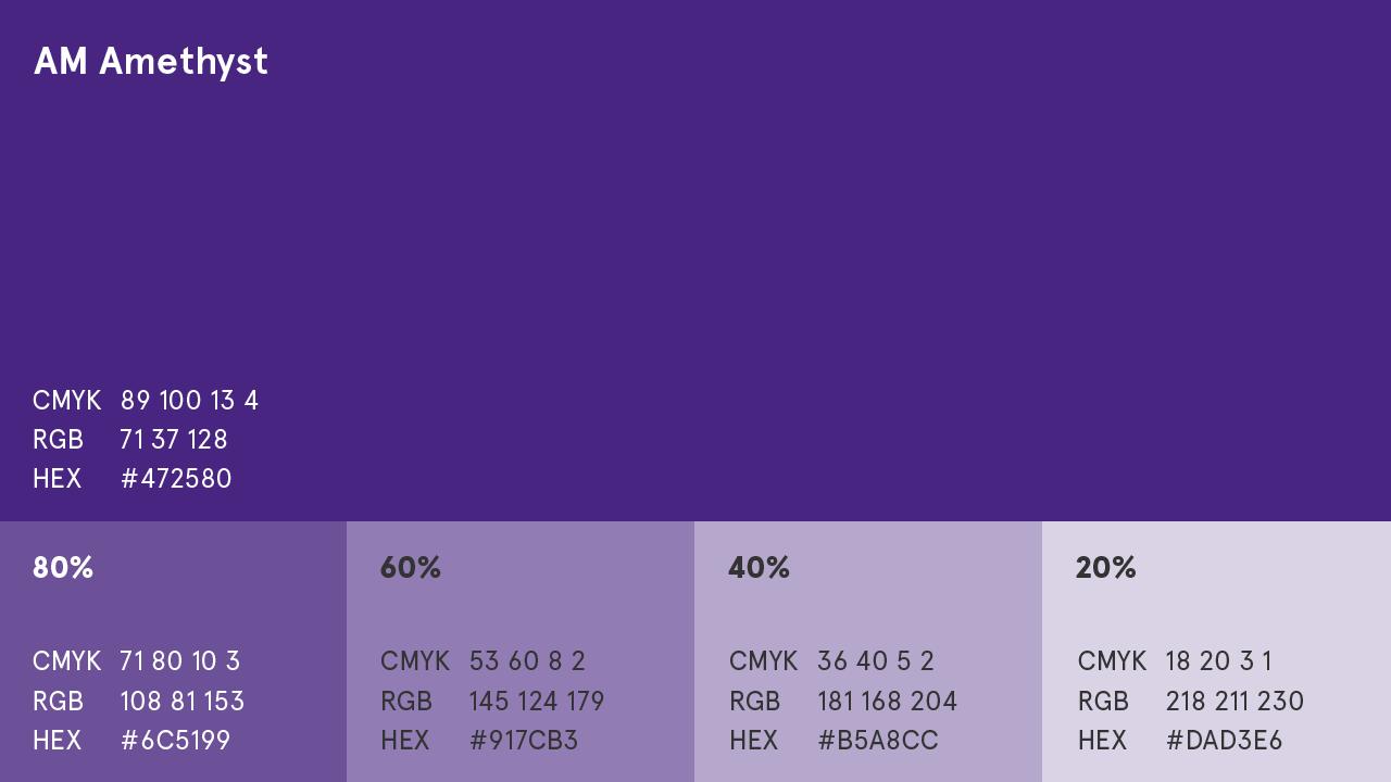 AM Amethyst (Purple) Colour