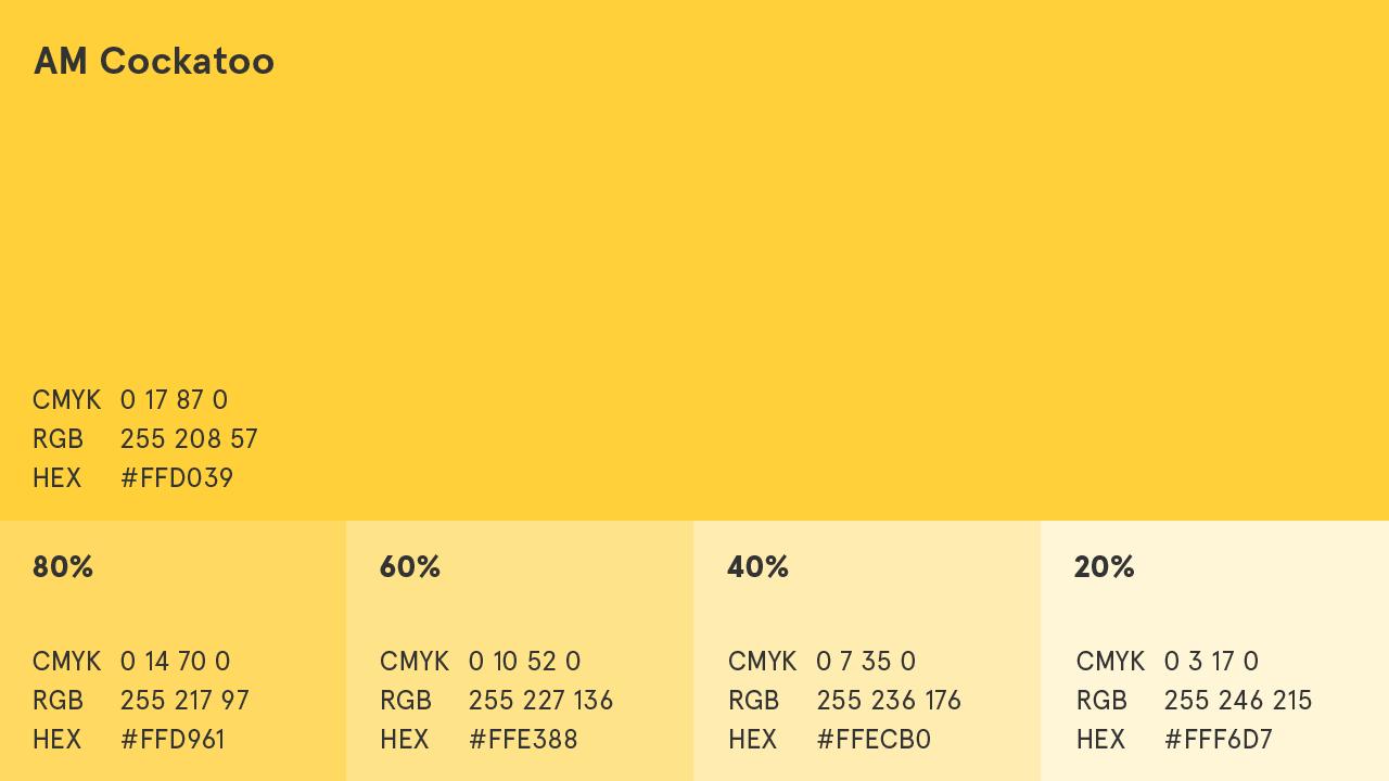 AM Cockatoo (Yellow) Colour