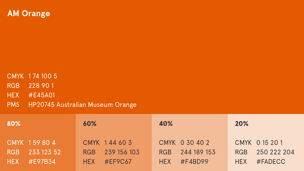 AM Orange colour