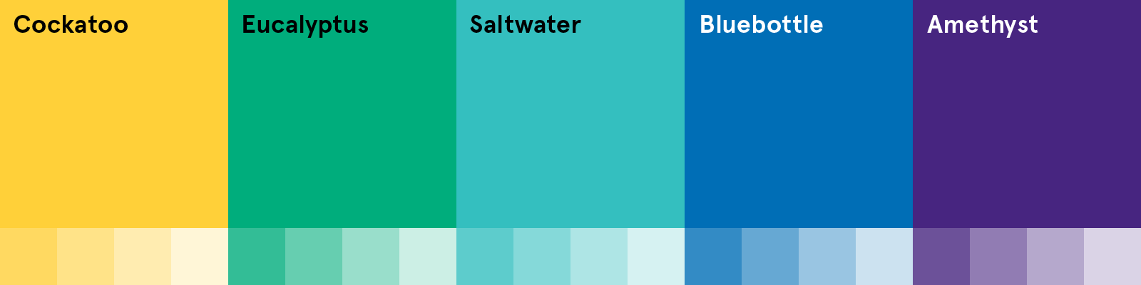 AM Secondary Colour Palette