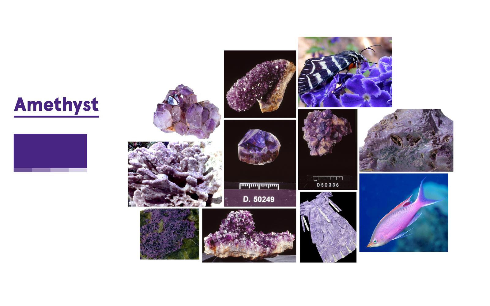 Inspiration for Amethyst (purple)