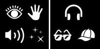 AM lights, sound, touch icon