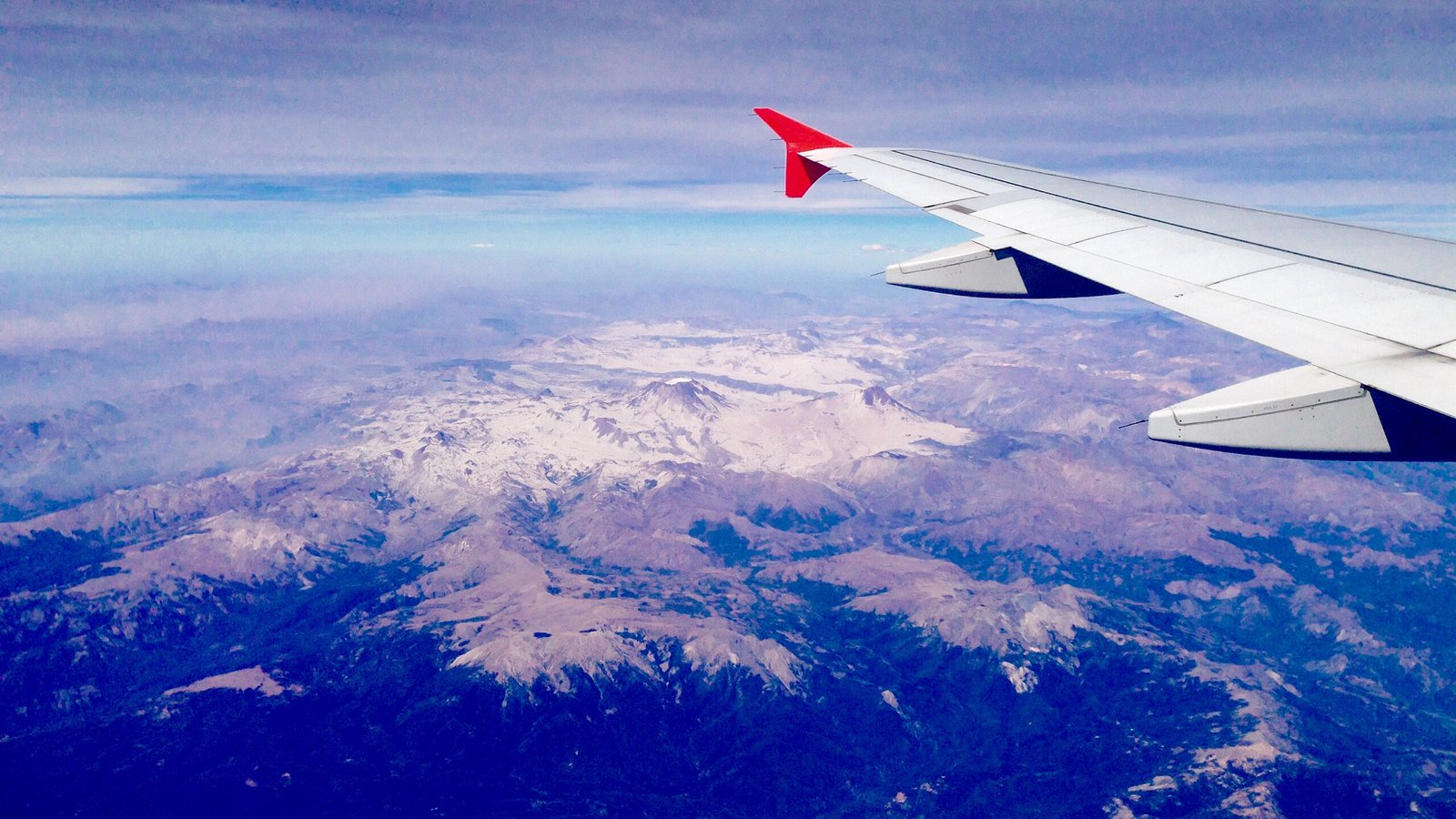 Bird's-eye view of the South American Andes Mountains.