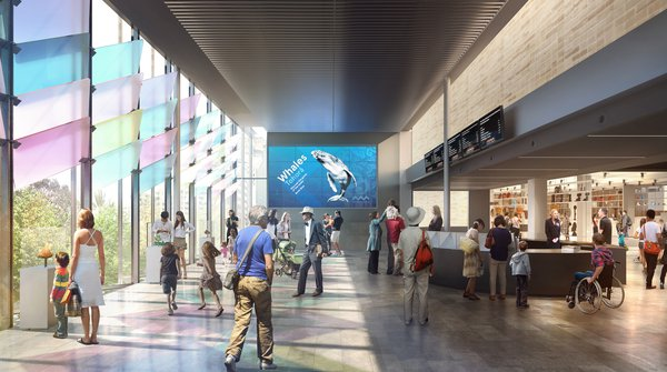 Artist's impression of expanded Crystal Hall entry