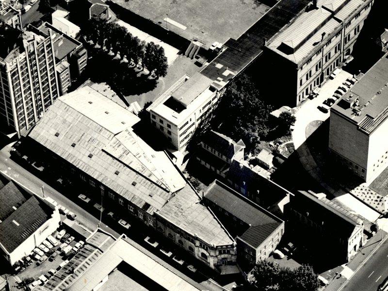 Aerial view of Sydney Grammar School and Australian Museum.