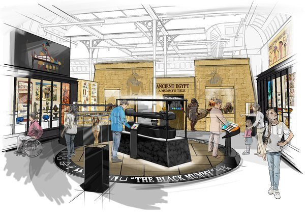 Artist's impression of the permanent Egypt gallery