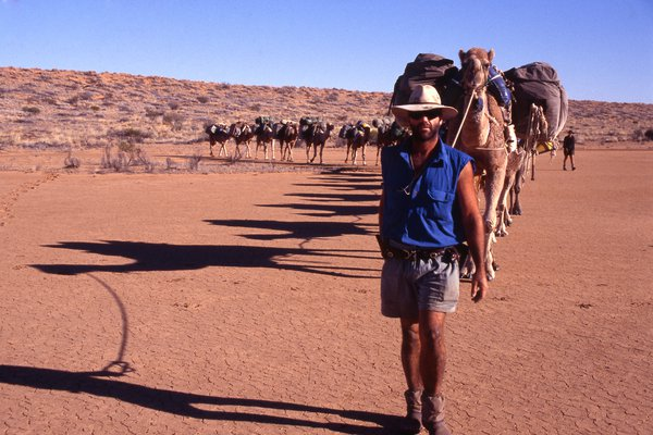 Andrew Harper in the Simpson Desert