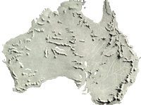Relief map of Australia