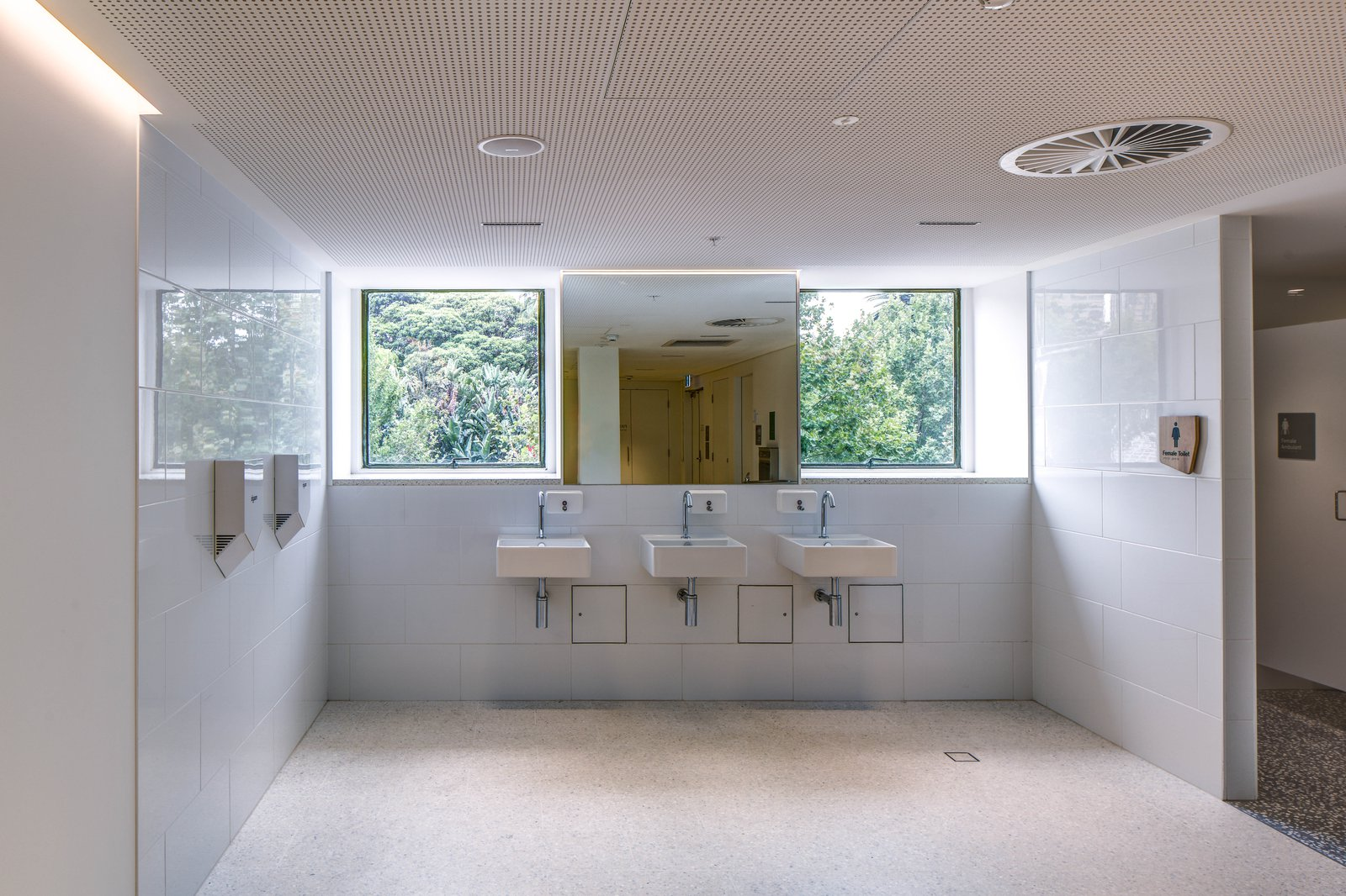 Lower ground AM bathrooms