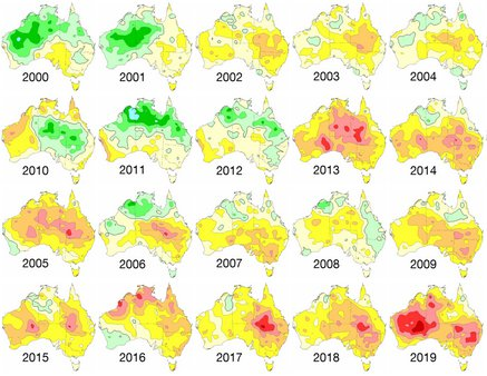 Australia Mean Temperature 200 - 2019