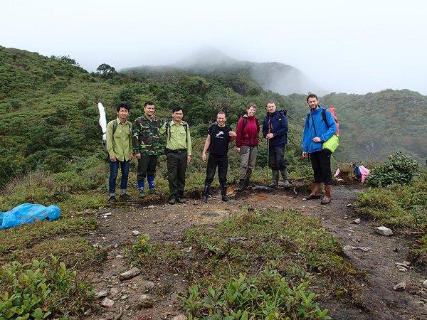 Survey team in northern Vietnam