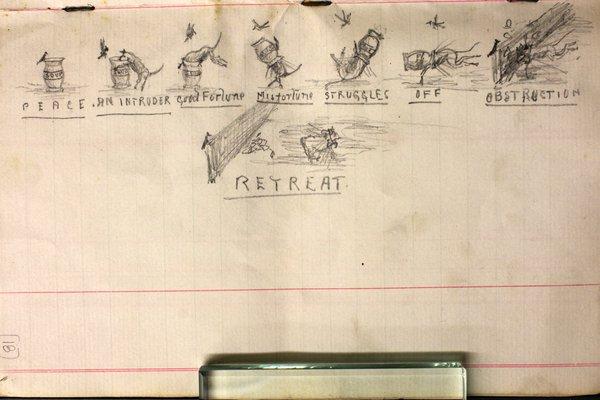 Cartoon from Edgar Waite's first diary