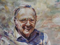 Charles Barnes Watercolour Portrait