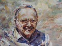 Charles Barnes Watercolour Portrait