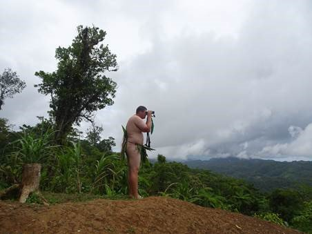 Corey Callaghan in cultural gear while on expedition in Malaita, Solomon Islands