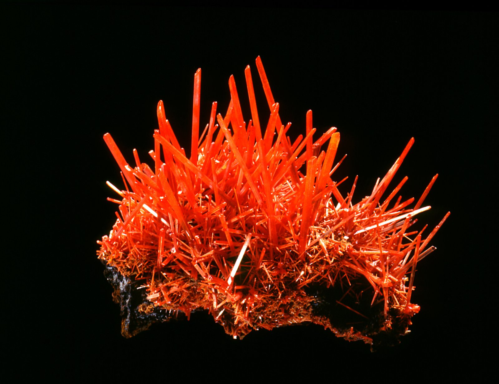Crocoite on Limonite