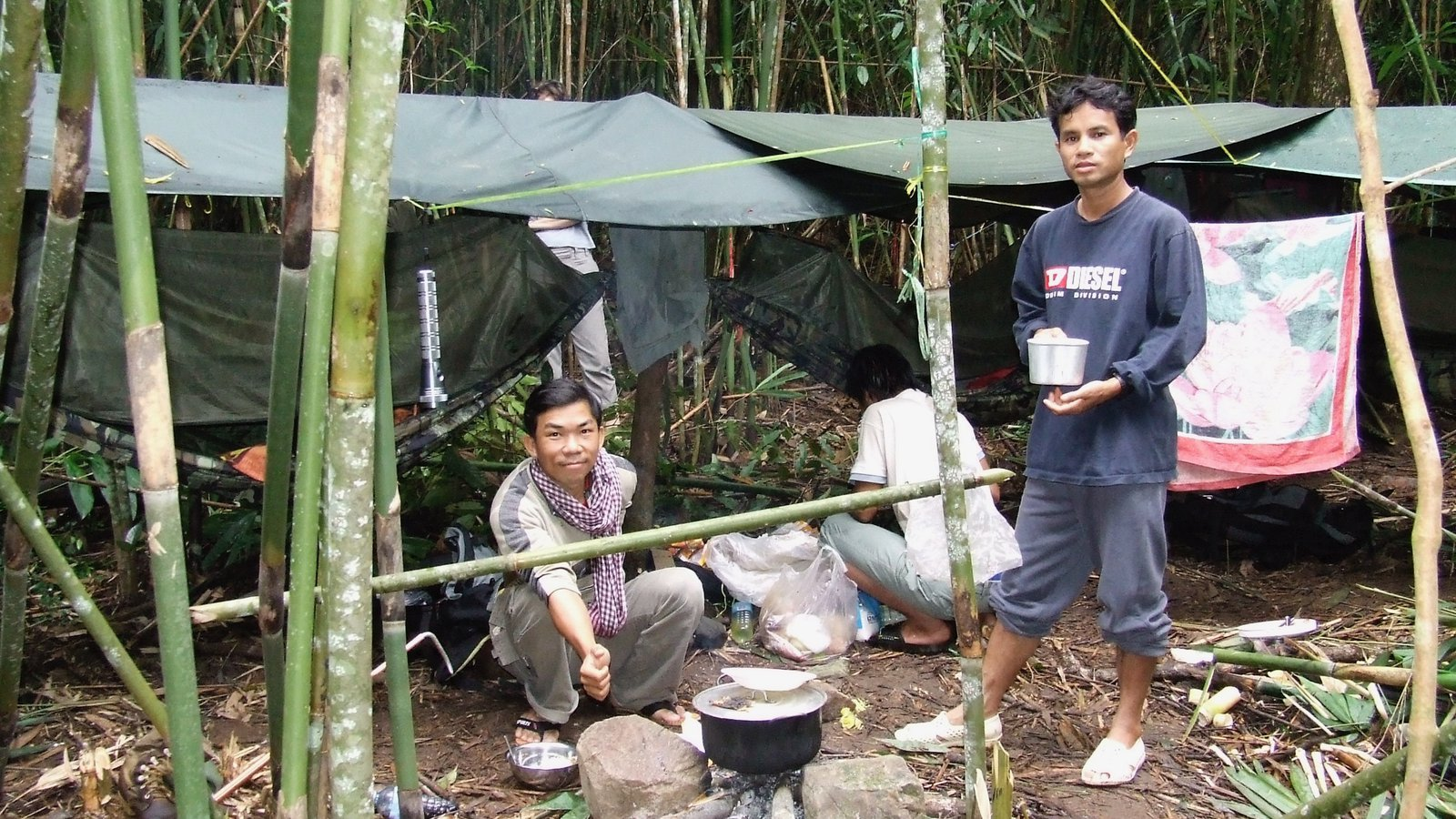 Field camp in Virachey National Park, Cambodia.