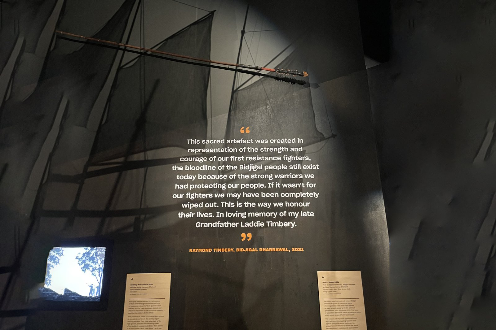 Death Spear in Unsettled exhibition