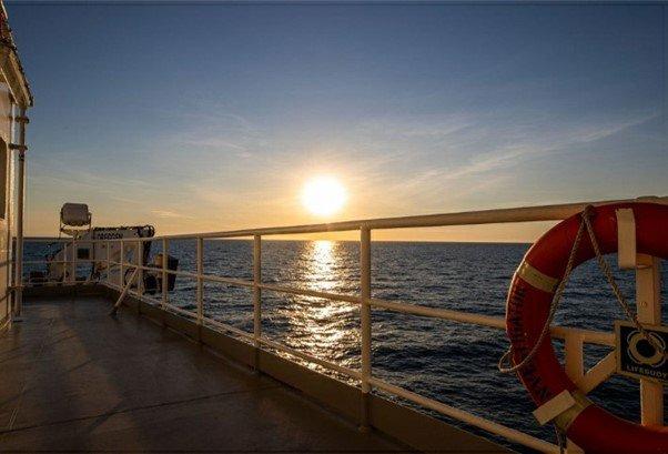 From the deck of CSIRO research vessel Investigator.