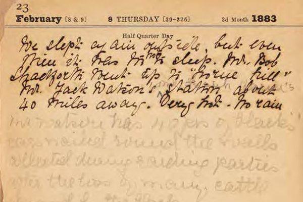 Emily Caroline Creaghe's diary, 1883