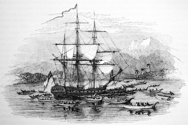 Endeavour in Tahiti - 1769