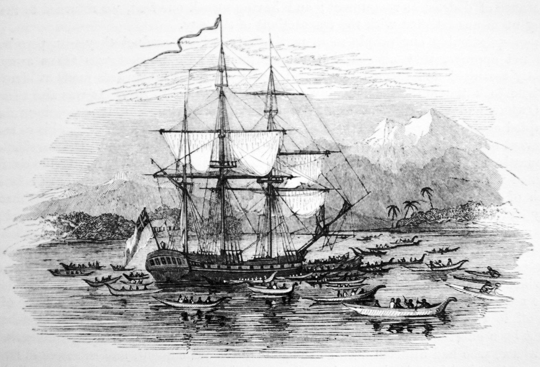 Endeavour in Tahiti - 1769